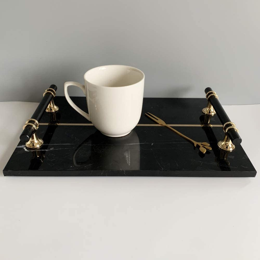 Luxurious Hand Cut Jewelry Marble Tray