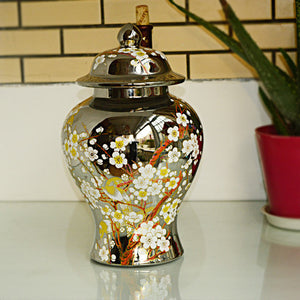 Floral Ginger Jar