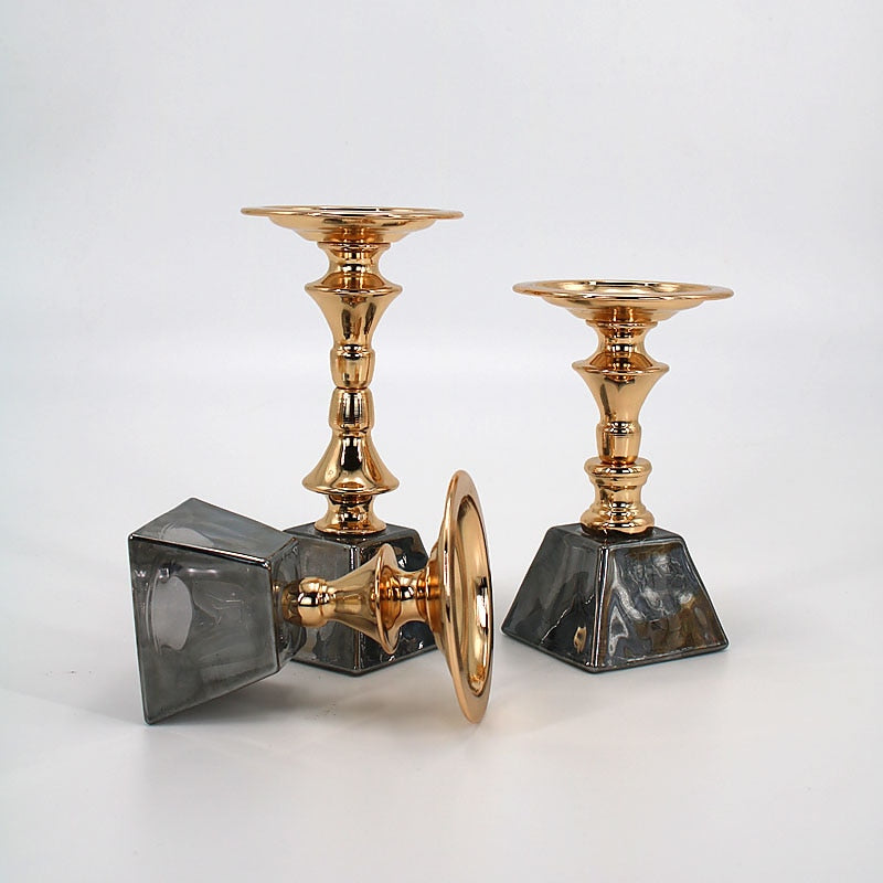 Black and Gold Candle Holder