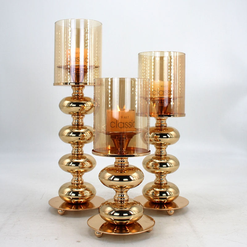 Luxurious Golden Candle Holder