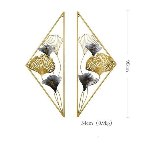 Modern Wrought Iron Wall Art Set