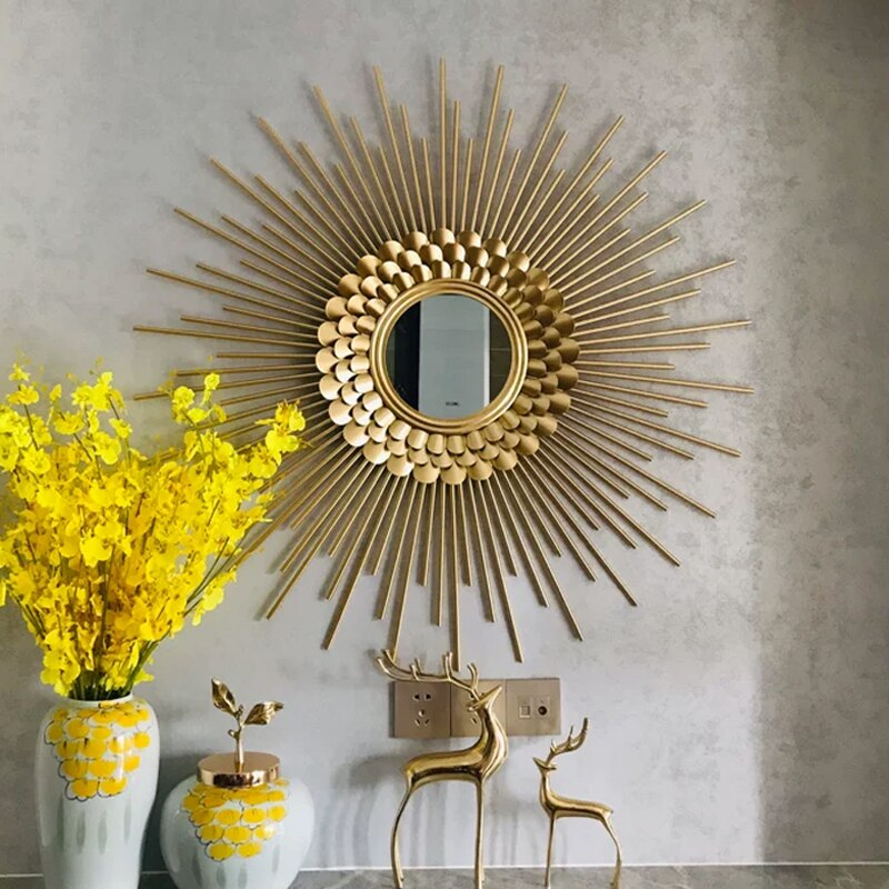 Modern Wrought Iron Decorative Mirror