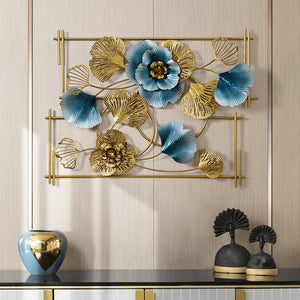 Creative Wrought Iron Floral Wall Art