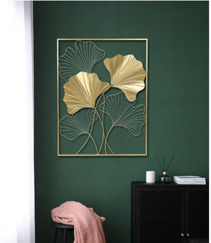 Luxurious 3D Wrought Iron Leaves Wall Art