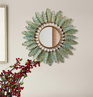 Decorative Leaves Mirror
