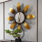 Bronze Sun Flower Mirror