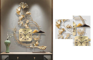 Golden Wrought Iron Wall Clock
