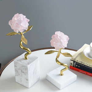 Crystal Flower With Marble Base