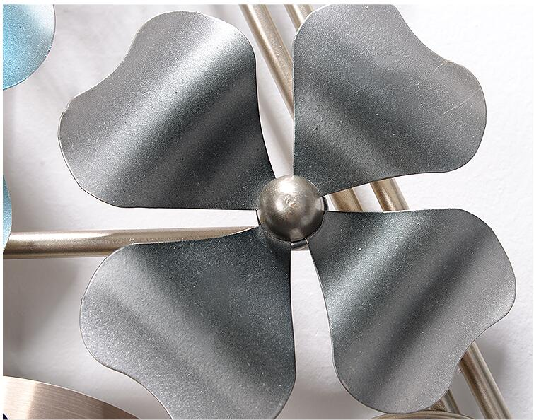 Modern Wrought Iron Leaves Clock