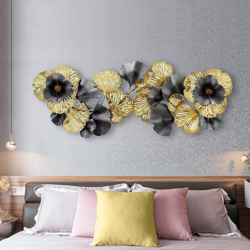 Black and Gold Wrought Iron Wall Art