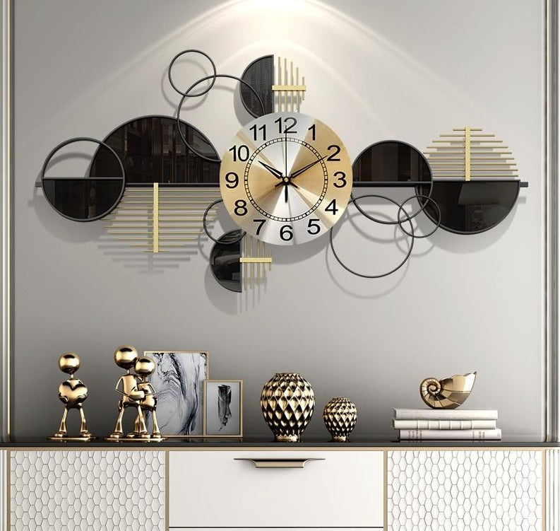 Sunset Wrought Iron Clock