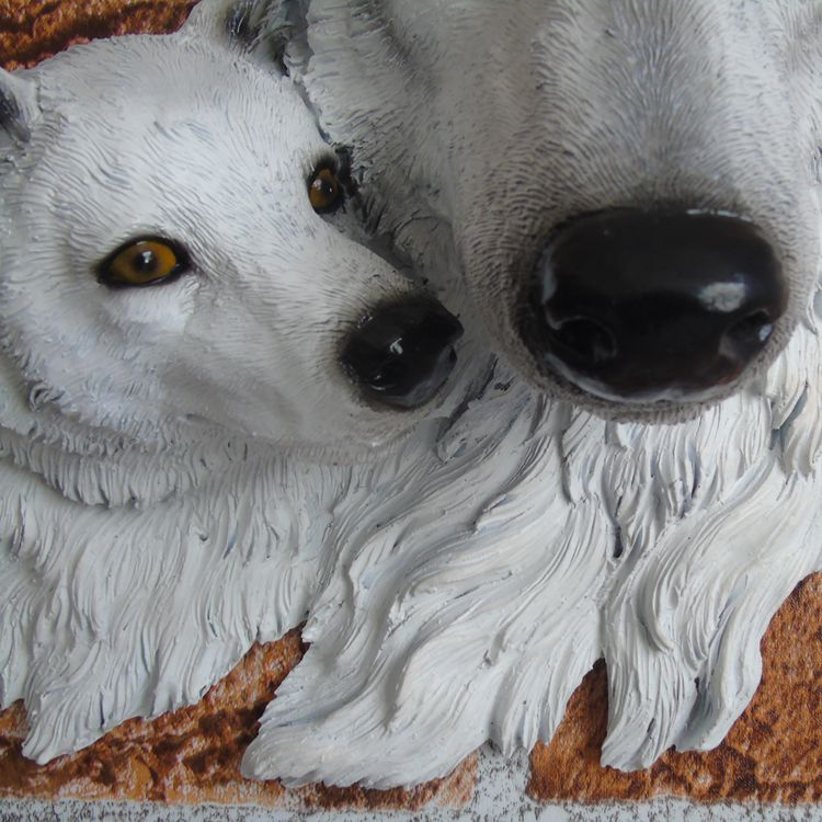 Resin Wolves Wall Art