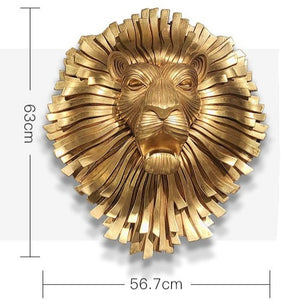 Lion Head Wall Art