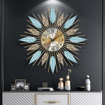 Blue and Gold Wrought Iron Clock