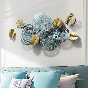 Large Wrought Iron Flower Wall Art