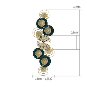 Green and Gold Wall Clock