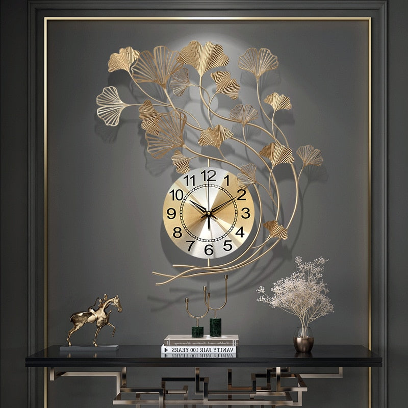 Decorative Wrought Iron Wall Clock