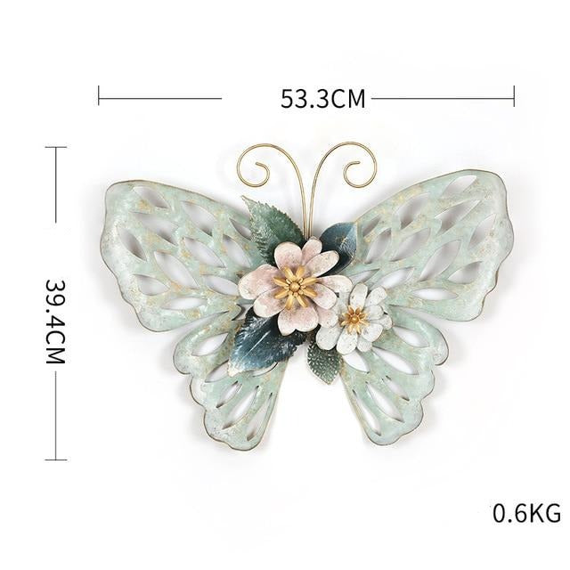 Butterfly Wrought Iron Wall Art