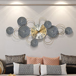 Modern Wrought Iron Wall Clock