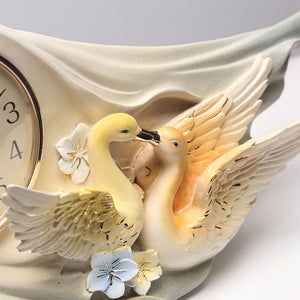 Hand Painted Birds Desk Clock