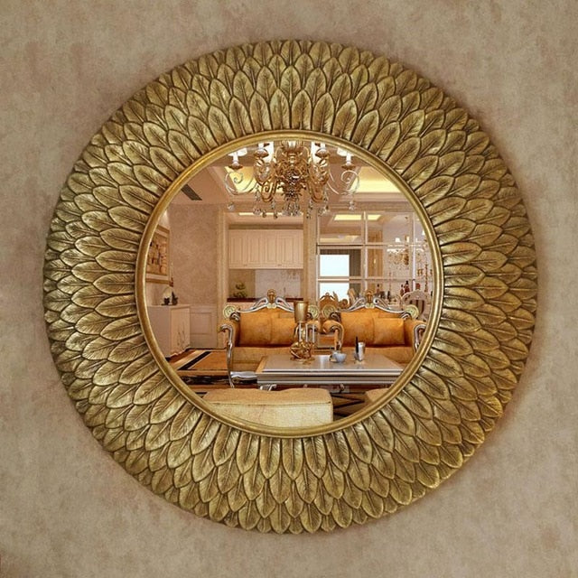 Resin Feather Mirror