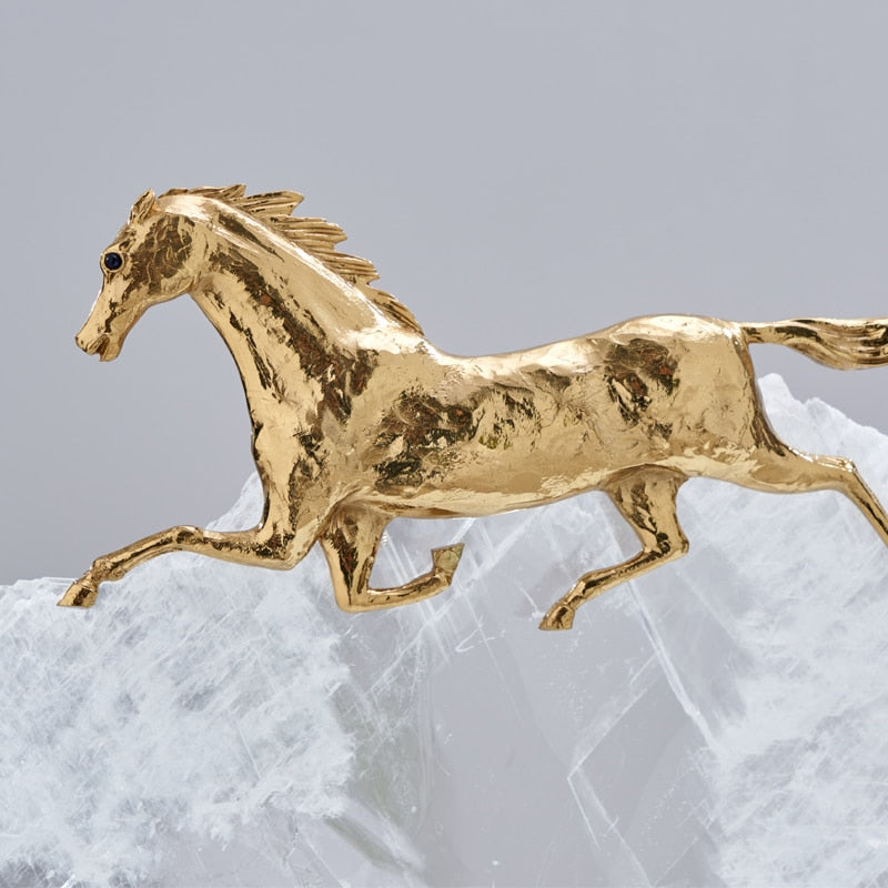 Crystal and Copper Horse