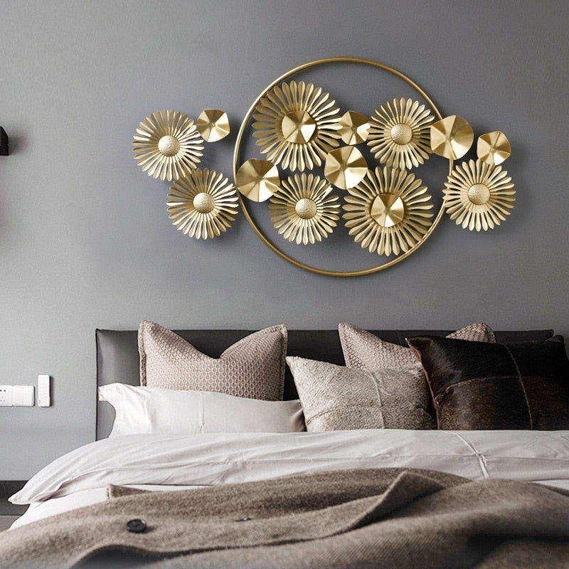 Golden Wrought Iron Wall Art