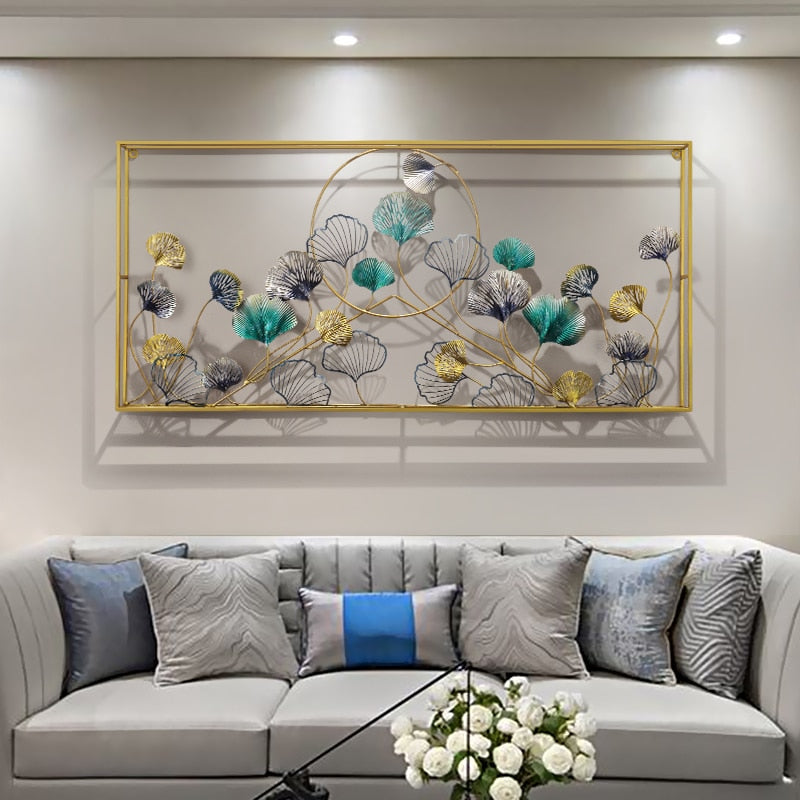 Three Dimensional Ginkgo Leaves Wall Art