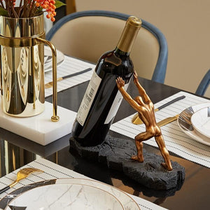 Strong Man Wine Holder