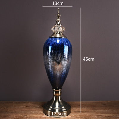 Royal Blue Glass Artwork
