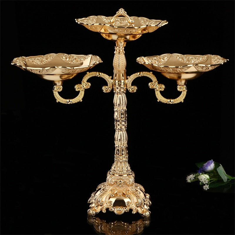 Decorative Gold Plated Candle Holders