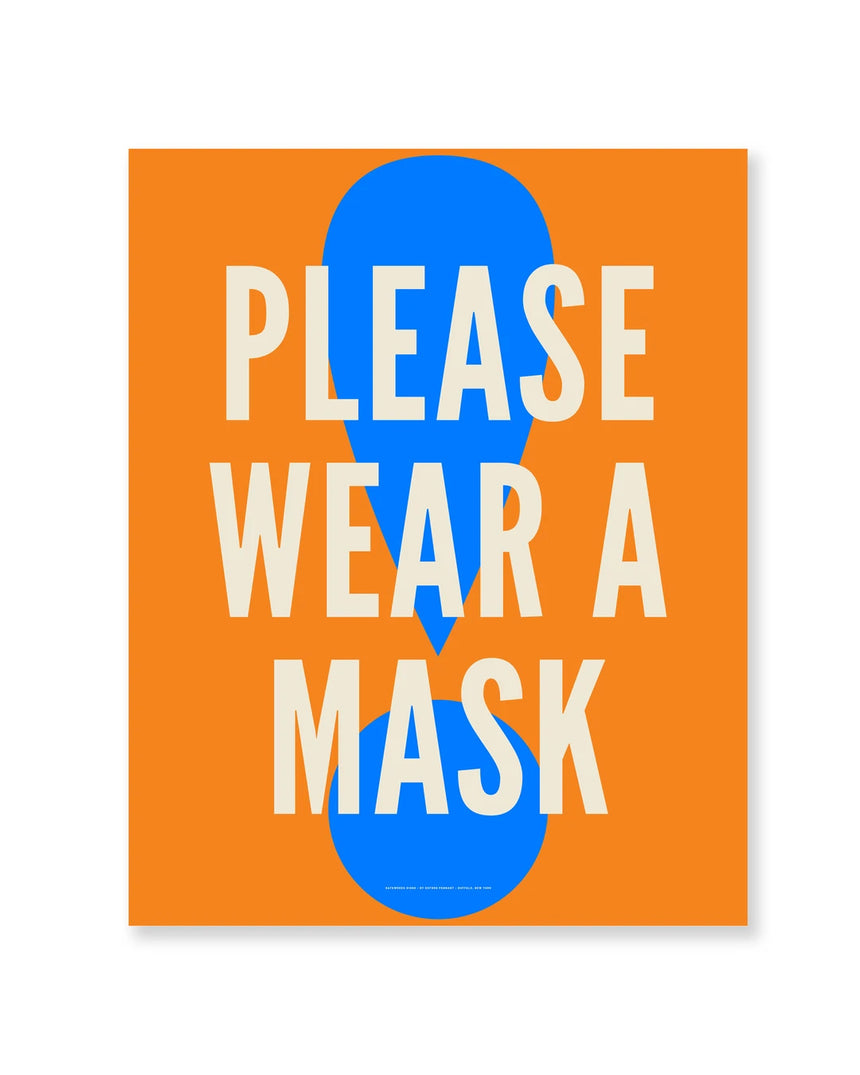 23x29 Interior Poster: Please Wear A Mask