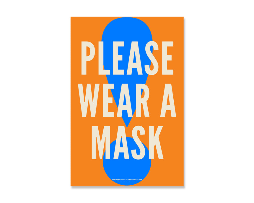 8.5x5.5 Decal: Please Wear A Mask