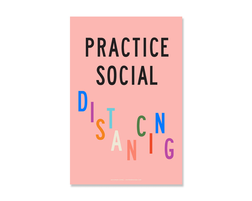 8.5x5.5 Decal: Practice Social Distancing