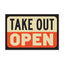 5.5x8.5 Decal: Take Out Open