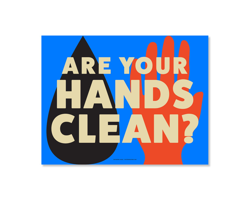 11x8.5 Decal: Are Your Hands Clean