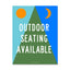 8.5x11 Decal: Outdoor Seating Available
