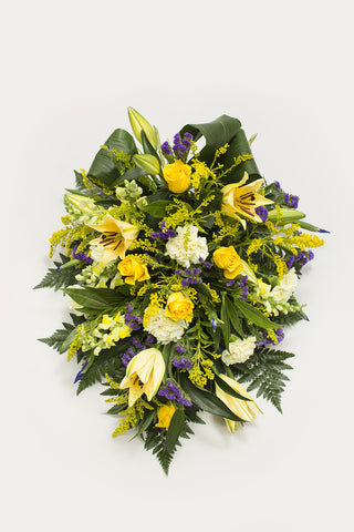 Yellow Sheaf Coffin Spray