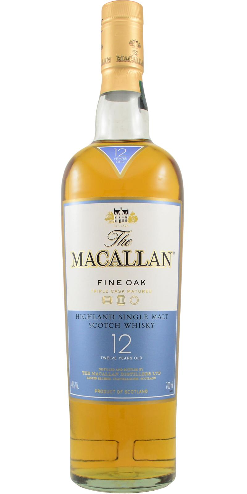 Macallan 12 Year Fine Oak Triple Cask Single Malt