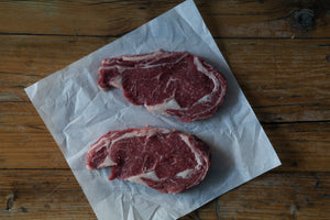 Load image into Gallery viewer, Beef Ribeye steaks (2 x 300g)