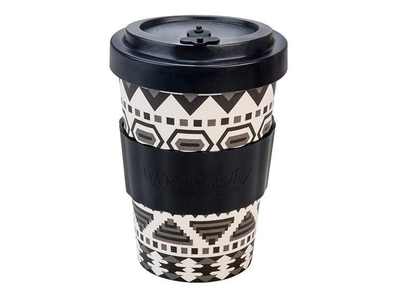 U at Home Aztec Black Bamboo Coffee Cup 400ml Various Patterns