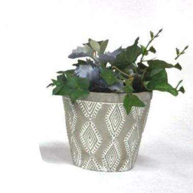 U at Home Aztec Diamond- Cement Pot