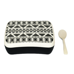 U at Home Bamboo Lunch Box- Aztec Black