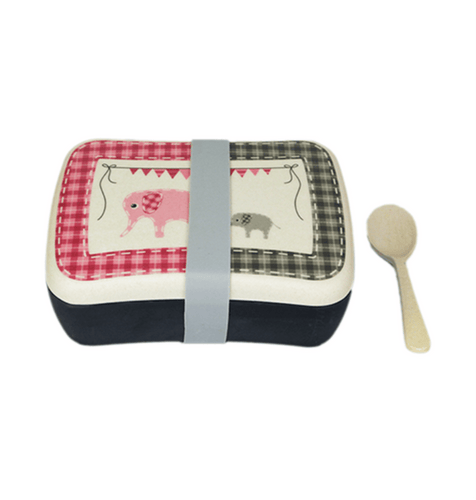 U at Home Bamboo Lunch Box- Elephant