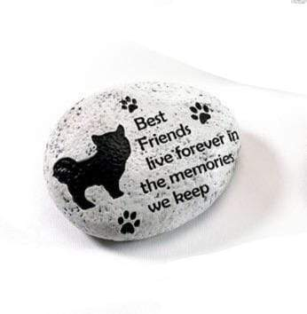 U at Home Best Friends live forever-Dog Memorial Stone