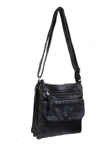 U at Home Black-Solid Faux Leather Satchel
