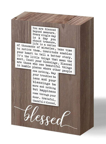 U at Home BLESSED- Wood Block