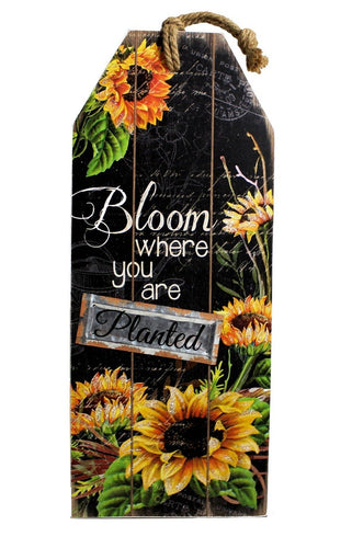U at Home Bloom Where You Are Planted- Plaque