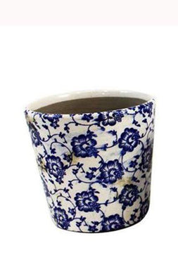 U at Home Blue Ceramic Flower Pot (1)