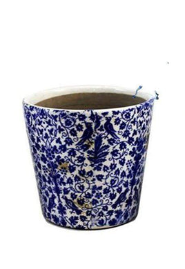 U at Home Blue Ceramic Flower Pot (2)